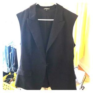 Express sleeveless suit jacket